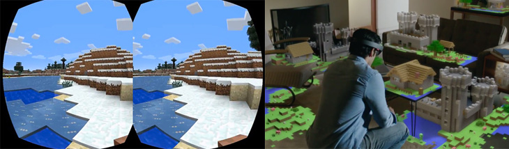 Minecraft Augmented Reality Virtual Reality