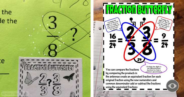 Fractions augmented reality education blipp