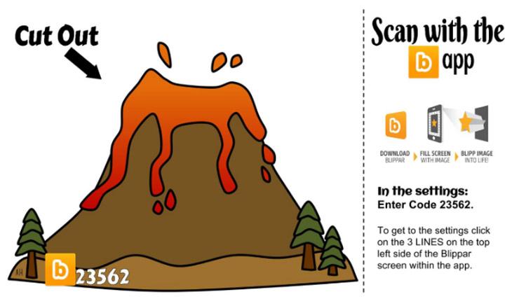 Volcano augmented reality blipp